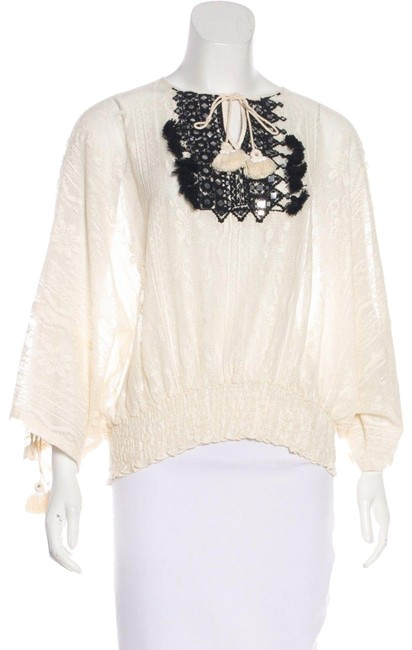 Preload https://img-static.tradesy.com/item/24222867/vineet-bahl-ivory-embellished-tassel-lace-blouse-size-6-s-0-1-650-650.jpg