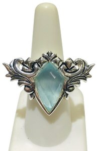 Stephen Webster NEVER WORN!! Stephen Webster Superstud Baroque Silver MOP, Blue Cat's Eye and Clear Quartz Crystal Haze Spike Ring Sterling Silver 23.8 grams Size 7 100% Authentic Guaranteed!! Comes with Original Stephen Webster Pouch!!!