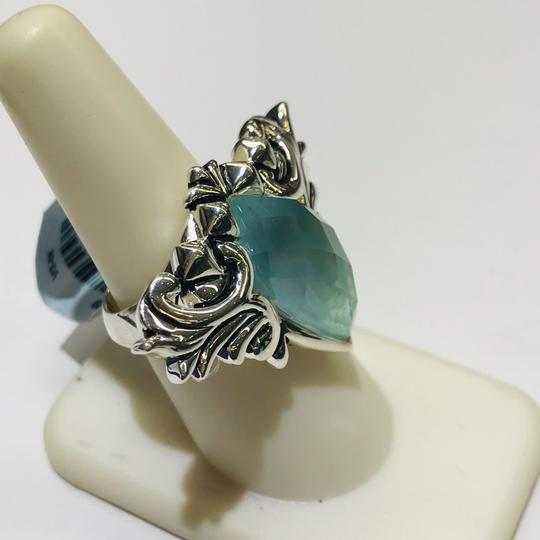 Stephen Webster NEVER WORN!! Stephen Webster Superstud Baroque Silver MOP, Blue Cat's Eye and Clear Quartz Crystal Haze Spike Ring Sterling Silver 23.8 grams Size 7 100% Authentic Guaranteed!! Comes with Original Stephen Webster Pouch!!! Image 2
