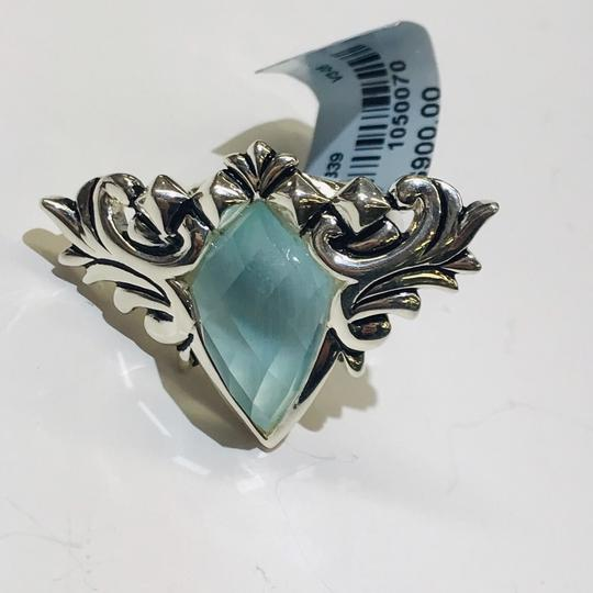 Stephen Webster NEVER WORN!! Stephen Webster Superstud Baroque Silver MOP, Blue Cat's Eye and Clear Quartz Crystal Haze Spike Ring Sterling Silver 23.8 grams Size 7 100% Authentic Guaranteed!! Comes with Original Stephen Webster Pouch!!! Image 5