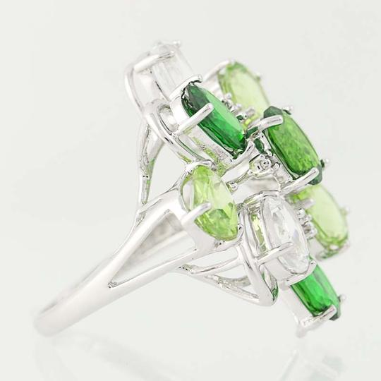 Other NEW Topaz, Peridot, & Chrome Diopside Ring - 14k Gold Cluster N9391 Image 1
