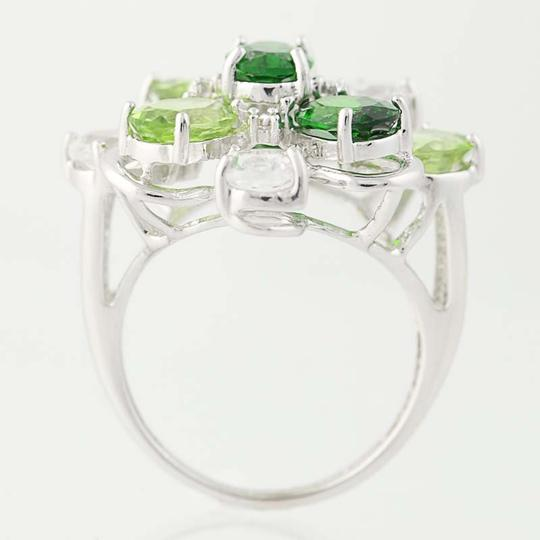 Other NEW Topaz, Peridot, & Chrome Diopside Ring - 14k Gold Cluster N9391 Image 3