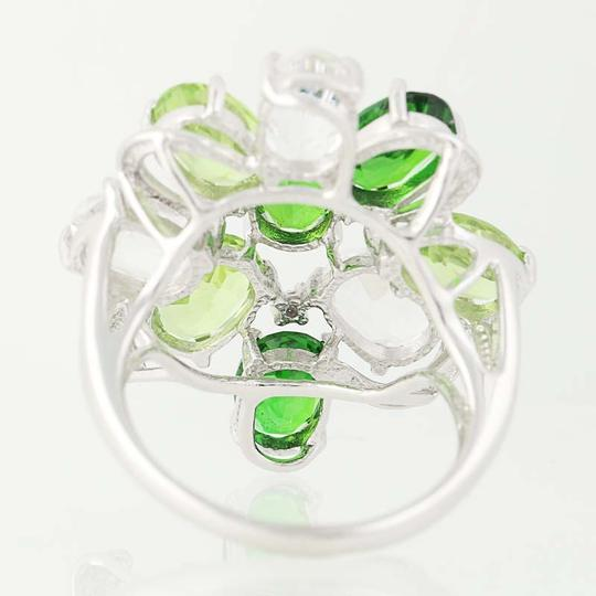 Other NEW Topaz, Peridot, & Chrome Diopside Ring - 14k Gold Cluster N9391 Image 4