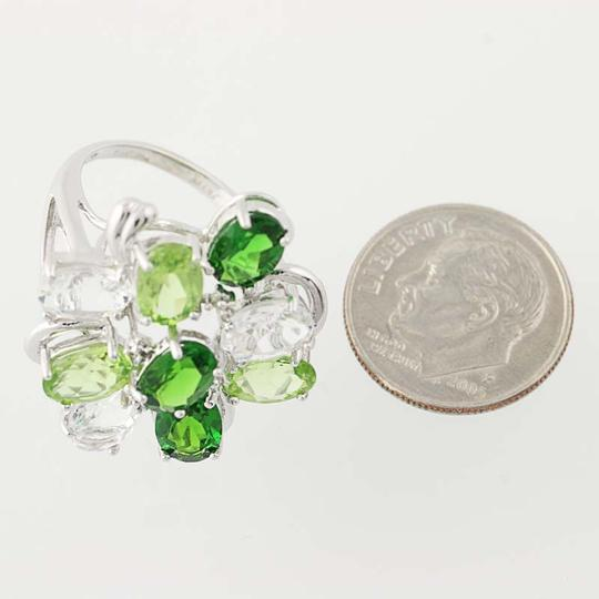 Other NEW Topaz, Peridot, & Chrome Diopside Ring - 14k Gold Cluster N9391 Image 6