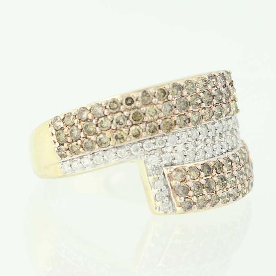 Other NEW Diamond Cluster Bypass Ring - 10k Yellow Gold Round Cut N9486 Image 1