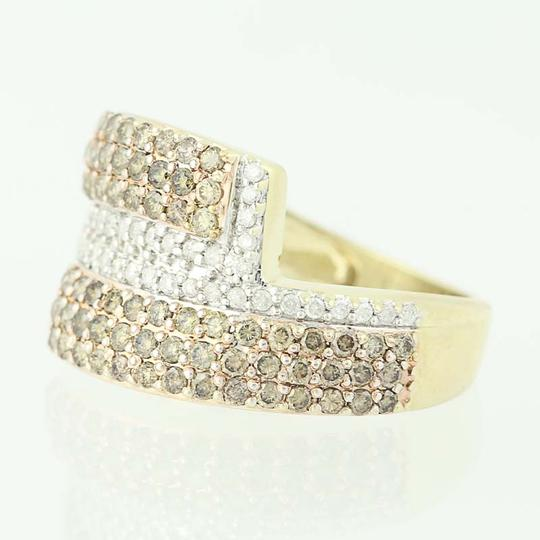 Other NEW Diamond Cluster Bypass Ring - 10k Yellow Gold Round Cut N9486 Image 2