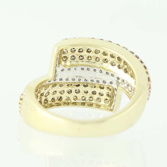 Other NEW Diamond Cluster Bypass Ring - 10k Yellow Gold Round Cut N9486 Image 3