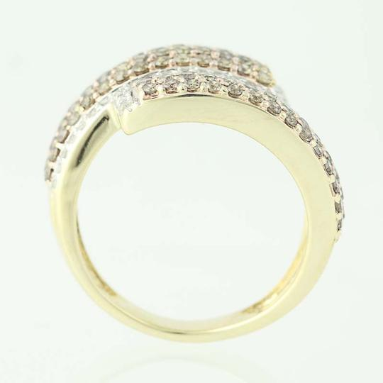 Other NEW Diamond Cluster Bypass Ring - 10k Yellow Gold Round Cut N9486 Image 4