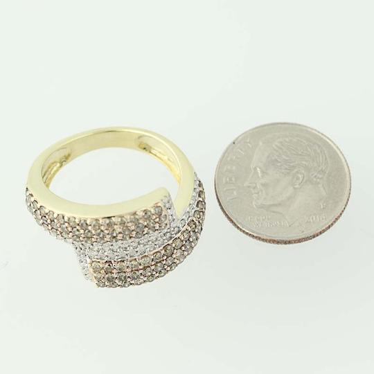 Other NEW Diamond Cluster Bypass Ring - 10k Yellow Gold Round Cut N9486 Image 6
