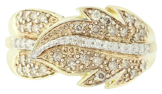 Preload https://img-static.tradesy.com/item/24222915/yellow-gold-new-diamond-feather-bypass-14k-round-cut-n9490-ring-0-1-540-540.jpg