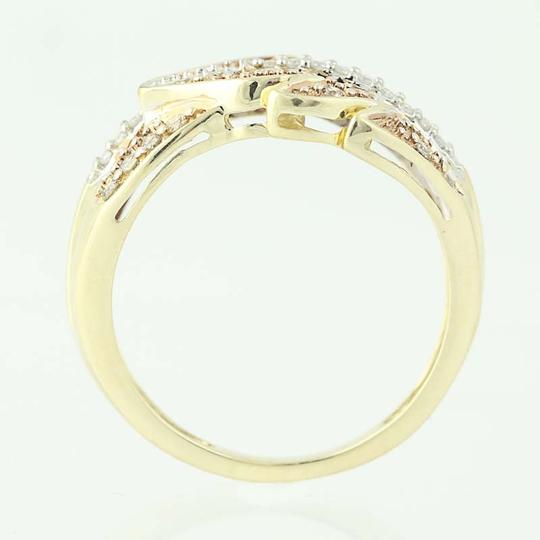 Other NEW Diamond Feather Bypass Ring - 14k Yellow Gold Round Cut N9490 Image 4