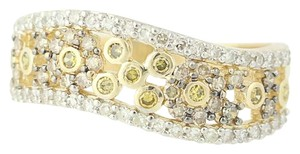 Other NEW Floral Diamond Ring - 14k Yellow Gold N9491