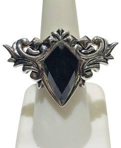 Stephen Webster Stephen Webster Superstud Baroque Silver Gray Cat's Eye and Clear Quartz Crystal Haze Spike Ring Sterling Silver 25.5 grams Size 6.25 100% Authentic Guaranteed!!! Comes with Original Stephen Webster Pouch!!