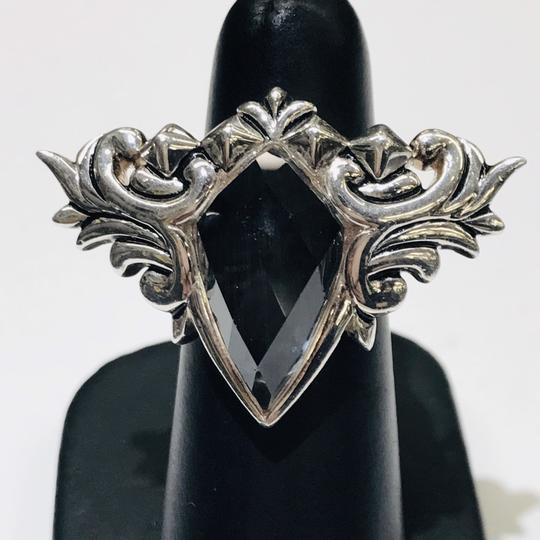 Stephen Webster Stephen Webster Superstud Baroque Silver Gray Cat's Eye and Clear Quartz Crystal Haze Spike Ring Sterling Silver 25.5 grams Size 6.25 100% Authentic Guaranteed!!! Comes with Original Stephen Webster Pouch!! Image 1