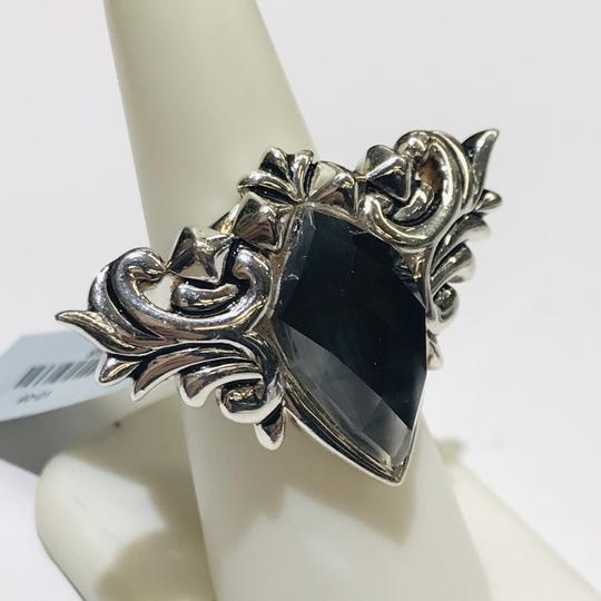 Stephen Webster Stephen Webster Superstud Baroque Silver Gray Cat's Eye and Clear Quartz Crystal Haze Spike Ring Sterling Silver 25.5 grams Size 6.25 100% Authentic Guaranteed!!! Comes with Original Stephen Webster Pouch!! Image 2