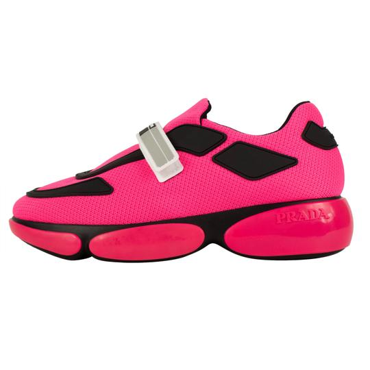 Prada Trainer Cloud Bust Knit Pink Athletic Image 9