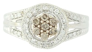 Other NEW Diamond Halo Ring - 14k White Gold N9509
