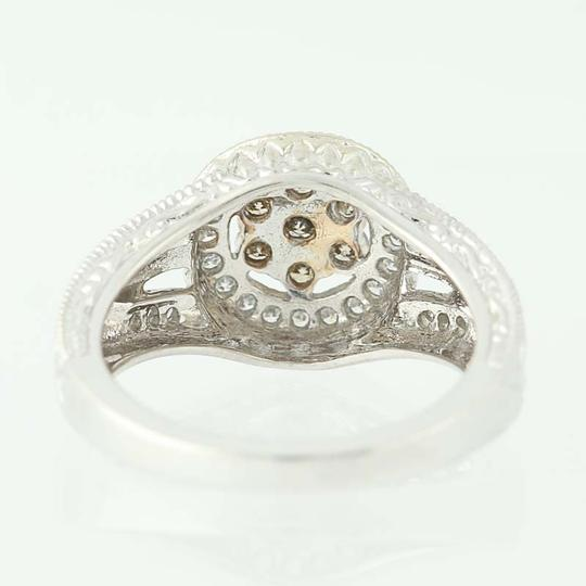Other NEW Diamond Halo Ring - 14k White Gold N9509 Image 3