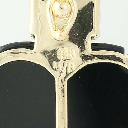 Other Black Onyx Heart Pendant - 14k Yellow Gold Diamond Accents N9787 Image 3