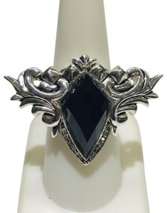 Stephen Webster Stephen Webster Superstud Baroque Silver Diamond Pave Slate Cat's Eye and Clear Quartz Crystal Haze Spike Ring Sterling Silver Pave Diamonds weighing 0.08 carats total weight 24.2 grams Size 7.25 100% Authentic Guaranteed!!! Comes with Original Stephen Webster Pouch!!