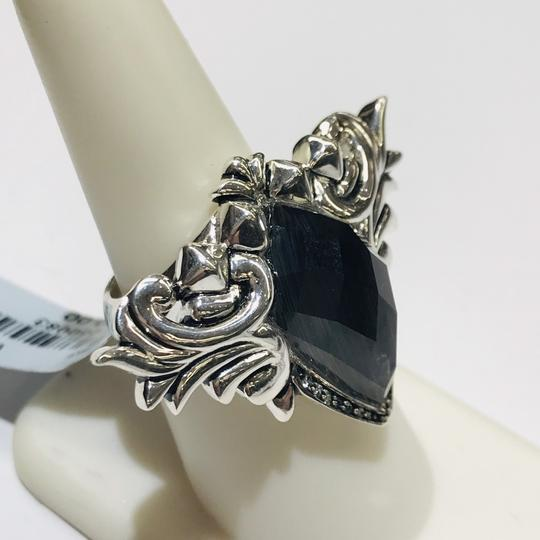 Stephen Webster Stephen Webster Superstud Baroque Silver Diamond Pave Slate Cat's Eye and Clear Quartz Crystal Haze Spike Ring Sterling Silver Pave Diamonds weighing 0.08 carats total weight 24.2 grams Size 7.25 100% Authentic Guaranteed!!! Comes with Original Stephen Webster Pouch!! Image 3