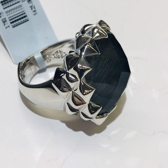Stephen Webster Stephen Webster Grey Cat's Eye and Clear Quartz Crystal Haze Cushion Ring Sterling Silver Grey Cat's Eye and Clear Quartz Crystal 32.5 carats total weight 22.5 grams Size 6 100% Authentic Guaranteed!!! Comes with Original Stephen Webster Pouch!! Image 5