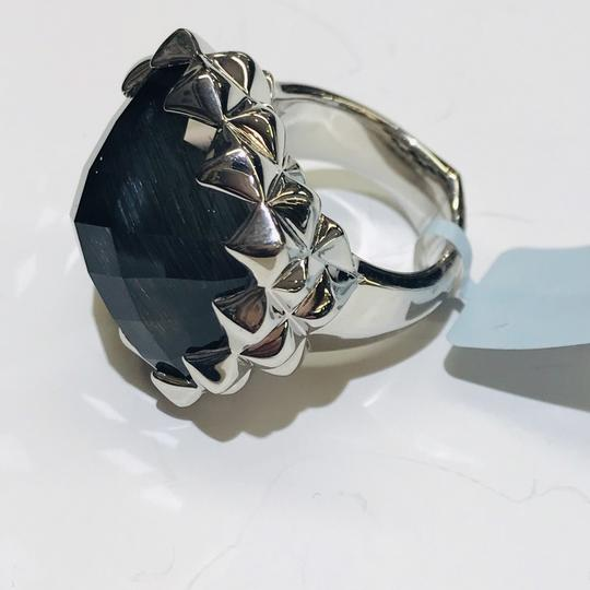 Stephen Webster Stephen Webster Grey Cat's Eye and Clear Quartz Crystal Haze Cushion Ring Sterling Silver Grey Cat's Eye and Clear Quartz Crystal 32.5 carats total weight 22.5 grams Size 6 100% Authentic Guaranteed!!! Comes with Original Stephen Webster Pouch!! Image 6