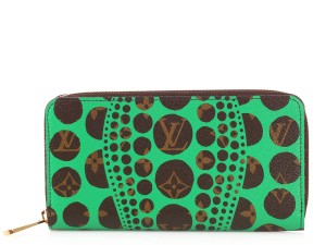Louis Vuitton Louis Vuitton Green Pumpkin Dots Wallet