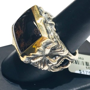 Stephen Webster Stephen Webster Superstud Silver/18 Karat Yellow Gold Spiderman Jasper and Garnet Gargoyle Rectangle Ring Sterling Silver/18 Karat Yellow Gold 27.1 grams Size 10 100% Authentic Guaranteed!!! Comes with Original Stephen Webster Pouch!!