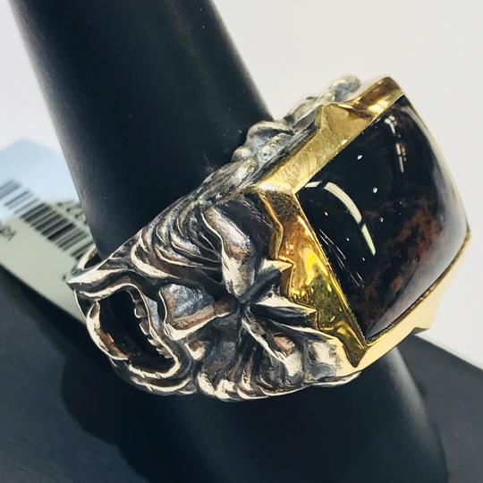 Stephen Webster Stephen Webster Superstud Silver/18 Karat Yellow Gold Spiderman Jasper and Garnet Gargoyle Rectangle Ring Sterling Silver/18 Karat Yellow Gold 27.1 grams Size 10 100% Authentic Guaranteed!!! Comes with Original Stephen Webster Pouch!! Image 1