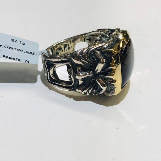 Stephen Webster Stephen Webster Superstud Silver/18 Karat Yellow Gold Spiderman Jasper and Garnet Gargoyle Rectangle Ring Sterling Silver/18 Karat Yellow Gold 27.1 grams Size 10 100% Authentic Guaranteed!!! Comes with Original Stephen Webster Pouch!! Image 7