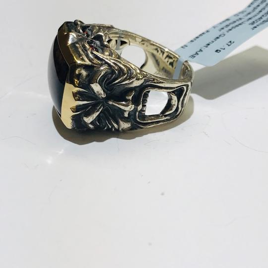 Stephen Webster Stephen Webster Superstud Silver/18 Karat Yellow Gold Spiderman Jasper and Garnet Gargoyle Rectangle Ring Sterling Silver/18 Karat Yellow Gold 27.1 grams Size 10 100% Authentic Guaranteed!!! Comes with Original Stephen Webster Pouch!! Image 8