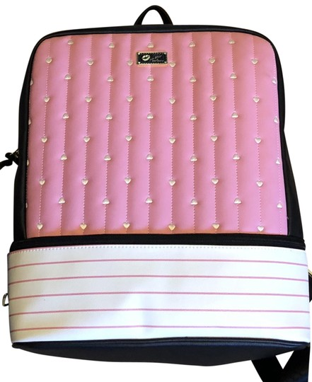Preload https://img-static.tradesy.com/item/24223100/betsey-johnson-luv-collection-pink-black-white-pvc-leather-backpack-0-1-540-540.jpg