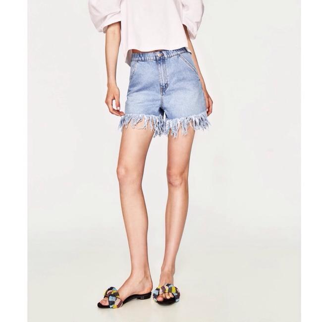 Zara Cut Off Shorts Denim Image 1