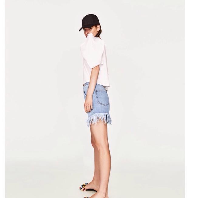 Zara Cut Off Shorts Denim Image 2