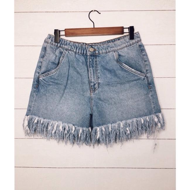 Zara Cut Off Shorts Denim Image 3