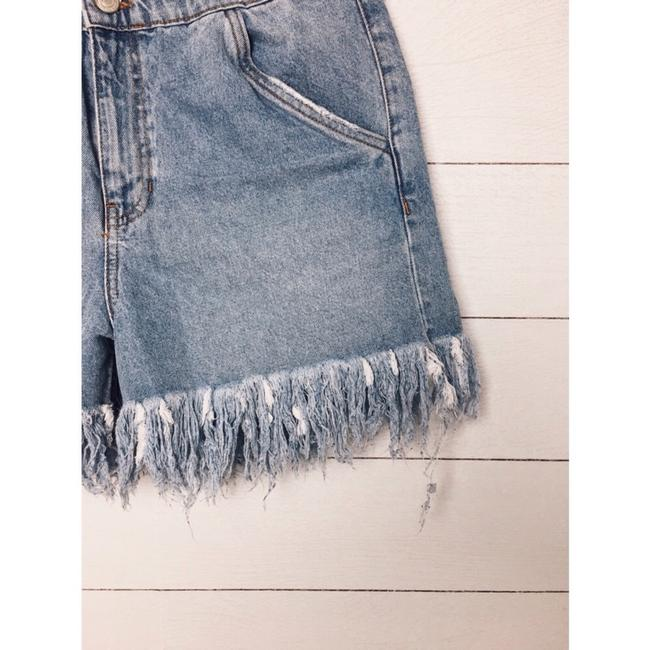 Zara Cut Off Shorts Denim Image 4