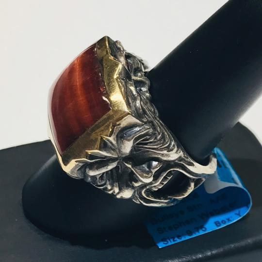Stephen Webster Stephen Webster Silver/18 Karat Yellow Gold Bulls Eye and Garnet Gargoyle Rectangle Ring Sterling Silver/18 Karat Yellow Gold 27.2 grams Size 9.75 100% Authentic Guaranteed!!! Comes with Original Stephen Webster Pouch!! Image 1
