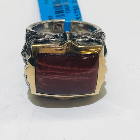 Stephen Webster Stephen Webster Silver/18 Karat Yellow Gold Bulls Eye and Garnet Gargoyle Rectangle Ring Sterling Silver/18 Karat Yellow Gold 27.2 grams Size 9.75 100% Authentic Guaranteed!!! Comes with Original Stephen Webster Pouch!! Image 10