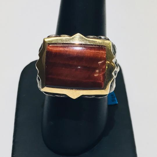 Stephen Webster Stephen Webster Silver/18 Karat Yellow Gold Bulls Eye and Garnet Gargoyle Rectangle Ring Sterling Silver/18 Karat Yellow Gold 27.2 grams Size 9.75 100% Authentic Guaranteed!!! Comes with Original Stephen Webster Pouch!! Image 2