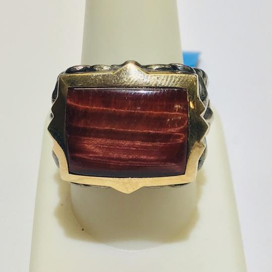 Stephen Webster Stephen Webster Silver/18 Karat Yellow Gold Bulls Eye and Garnet Gargoyle Rectangle Ring Sterling Silver/18 Karat Yellow Gold 27.2 grams Size 9.75 100% Authentic Guaranteed!!! Comes with Original Stephen Webster Pouch!! Image 3