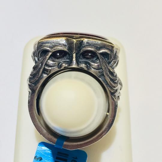 Stephen Webster Stephen Webster Silver/18 Karat Yellow Gold Bulls Eye and Garnet Gargoyle Rectangle Ring Sterling Silver/18 Karat Yellow Gold 27.2 grams Size 9.75 100% Authentic Guaranteed!!! Comes with Original Stephen Webster Pouch!! Image 4