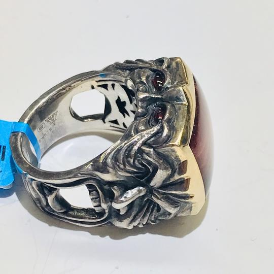 Stephen Webster Stephen Webster Silver/18 Karat Yellow Gold Bulls Eye and Garnet Gargoyle Rectangle Ring Sterling Silver/18 Karat Yellow Gold 27.2 grams Size 9.75 100% Authentic Guaranteed!!! Comes with Original Stephen Webster Pouch!! Image 8