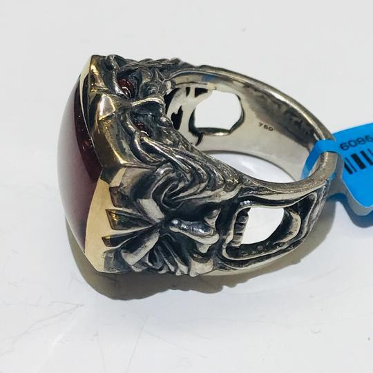 Stephen Webster Stephen Webster Silver/18 Karat Yellow Gold Bulls Eye and Garnet Gargoyle Rectangle Ring Sterling Silver/18 Karat Yellow Gold 27.2 grams Size 9.75 100% Authentic Guaranteed!!! Comes with Original Stephen Webster Pouch!! Image 9