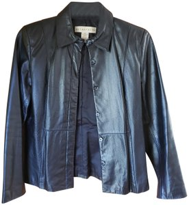 Apostrophe Smoke Free Genuine Leather Jacket