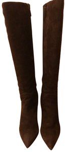 Via Spiga Suede Leather Brown Boots