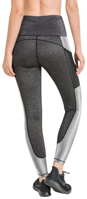 Mono B M Mono B Silver Yoga Pants Squat Proof High Waist Performance DJ2109 Image 1