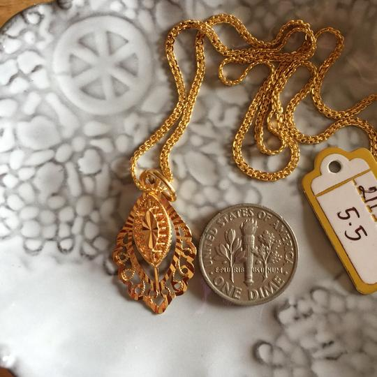 Other Real Saudi Gold 21k Necklace INTRICATE!! Image 2