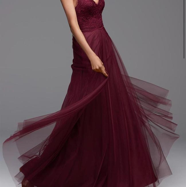 Item - Luxardo Wine Red Aria Lace Bobbinet Poly Lining Fiona 4605 Formal Bridesmaid/Mob Dress Size 6 (S)