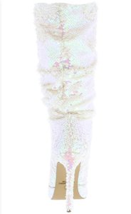 No name Pink and white sequins Boots